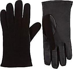 Barneys New York Mens Tech-Smart Suede Gloves - Black Size 7.5