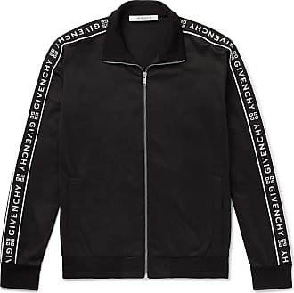 17af096eb Givenchy Logo-jacquard Fleece-back Tech-jersey Track Jacket - Black