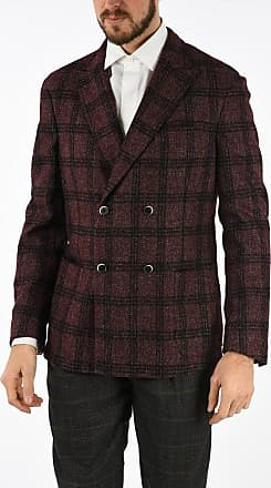 Corneliani CC COLLECTION plaid side vents SPORTSWEAR double-breasted bl size 50