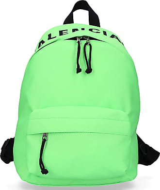 9a84d08b5f9b83 Balenciaga Backpack WHEEL BACKPACK S nylon logo embroidery neon green