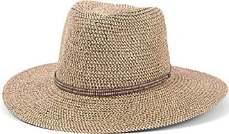 ále by Alessandra Womens Kenzie Toyo Straw Fedora Sunhat Packable & Adjustable, Grey, One Size