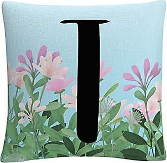 Trademark Fine Art Pink Floral Garden Letter Illustration T by ABC