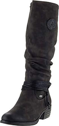 Rieker Damen 93154 Hohe Stiefel, Grau (Anthrazit Schwarz 45), 37 EU 7bd495d85c