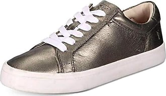 Frye Womens Kerry Low Lace Low Top Lace Up Fashion Sneakers, Pewter, Size 10.0 U US