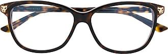 Cartier Armação de óculos tartarugada - Marrom