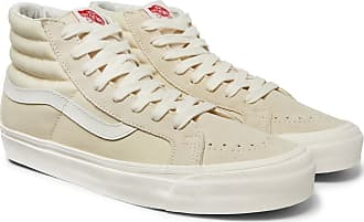 Vans Og Sk8-hi Lx Canvas And Suede High-top Sneakers - White