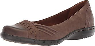 Rockport Womens Haley Skimmer Loafer Flat, Stone Leather, 6.5 W US