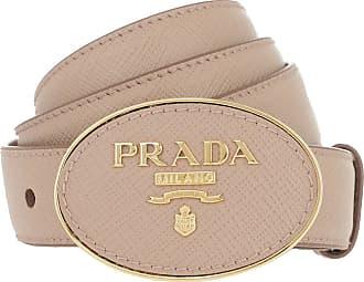 00eb99478b2ca Prada Logo Belt Saffiano Leather Cipria Gürtel beige