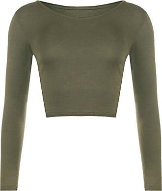 Details zu Puma Damen Crop T Shirt Langarm Rundhals Bauchfrei Oberteil Logo