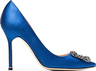 Manolo Blahnik Pumps Hangisi 105 - Di colore blu