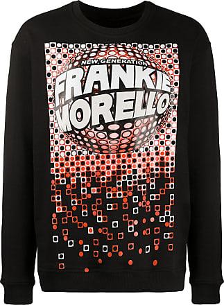 Frankie Morello Moletom decote careca com estampa gráfica - Preto
