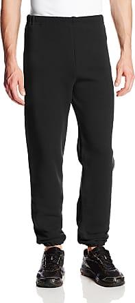 Russell Athletic Mens Dri-Power Closed Bottom Sweatpants (No Pockets), Black, XX-Large