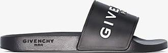 Givenchy Mens Black Logo Slides