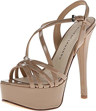 Chinese Laundry Womens Teaser Platform Dress Sandal, Nude Patent, 8 M US