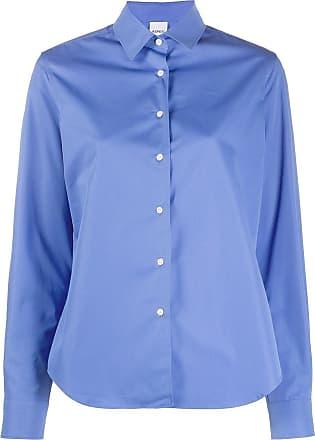 Aspesi Camisa slim com barra curvada - Azul