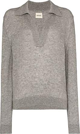 Khaite Suéter polo Jo de cashmere - Cinza