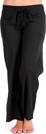 Tom Franks Ladies Womens Full Length Linen Trousers Black Size 12