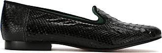 Blue Bird Shoes Loafer Exótico de couro python - Preto
