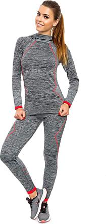 FUTURO FASHION Women Activewear Set Warm Winter Hoddie Leggings Ladies Sizes M/L XL/2XL FG3881 Red