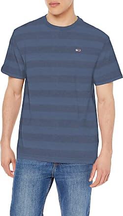Tommy Jeans Mens TJM Bold TEE T - Shirt, Blue (Twilight Navy Stripe 0Ze), XX-Large (Size:XXL)