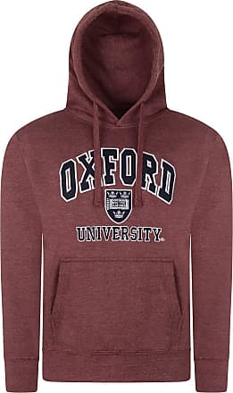 Oxford University Official Licensed Product Premium Quality Souvenir Embroidered Unisex Hoodie Sweatshirt for Men and Women (Large, Maroon Melange)