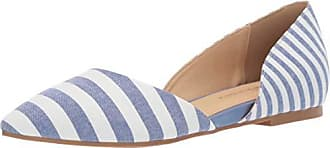Chinese Laundry Womens Hearty Ballet Flat, Blue/White, 6.5 M US
