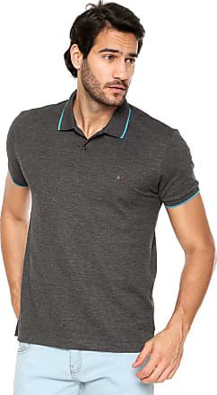 bc59193c0f5 Aramis Camisa Polo Aramis Regular Fit Cinza
