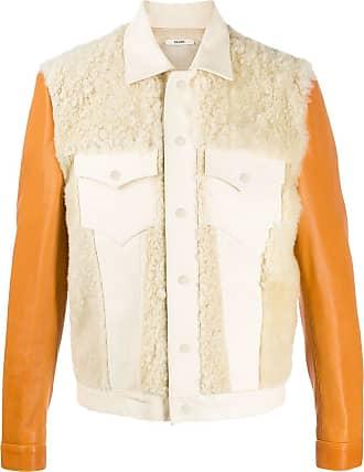 Zilver short textured leather jacket - NEUTRALS