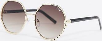 Quay Breeze In - Runde Sonnenbrille in Gold-Braun