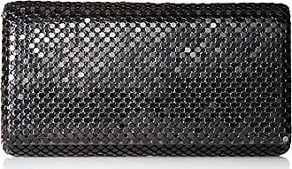Jessica McClintock Womens Metal Mesh Roll Evening Bag Clutch Purse (Shoulder Chain Included 4.5 x 7.5 x 2)