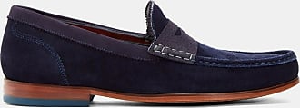 Ted Baker Suede Loafers in Dark Blue XAPON, Mens Accessories