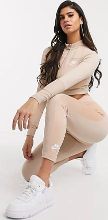 Nike Air Ribbed light beige high waisted leggings