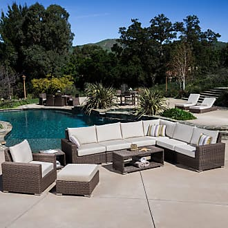 BEST SELLING HOME Outdoor Goodwin 9 Piece Deep Seating Conversation Set with Cushion - 239238