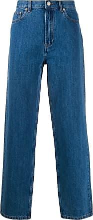A.P.C. Calça jeans reta com cintura alta - Azul