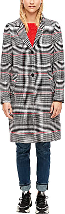 s.Oliver Womens 05.909.52.8964 Coat, Chequered Black, 12