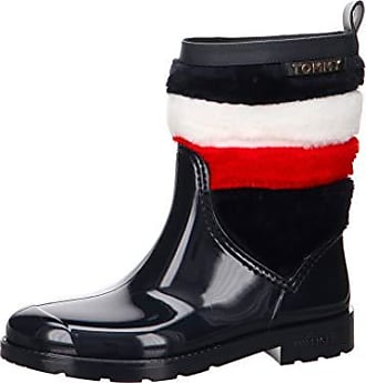 f09a9b4f1b0d86 Tommy Hilfiger Damen Corporate Faux Fur Rain Boot Gummistiefel Größe 38 EU  Blau (blau)