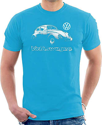 Volkswagen Beetle Spray Paint Mens T-Shirt Sapphire
