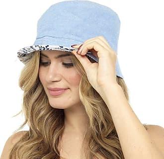 Undercover Womens Tom Franks Bucket Hat GL718 Light Denim/Navy Floral M/L