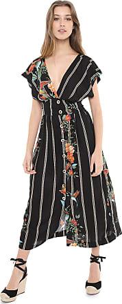 Dress To Vestido Dress to Midi Estampado Preto