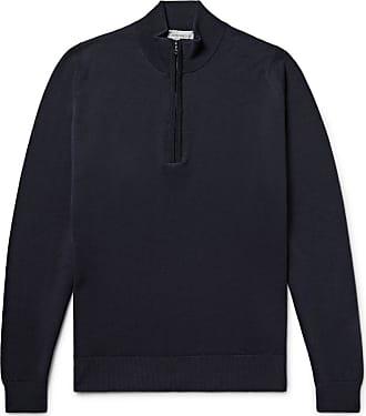 John Smedley Tapton Merino Wool Half-zip Sweater - Midnight blue