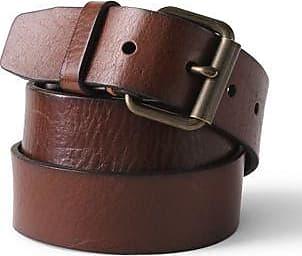 Lands End Ledergürtel im Vintage-Stil für Herren - Braun - 48-50 von Lands End