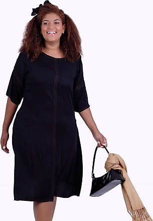 Vickttoria Vick Vestido Tilda Black Plus Size (44)