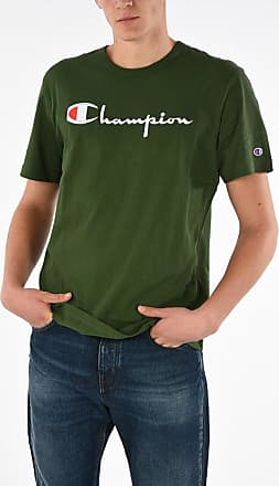 Black Heather Champion Reverse Weave Logo Raglan Short Sleeve Men/'s T-Shirt
