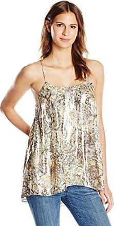 Haute Hippie Womens Cami with Beaded Fringe
