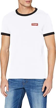 Wrangler Mens Ss Ringer Tee T-Shirt, White (White 989), XX-Large