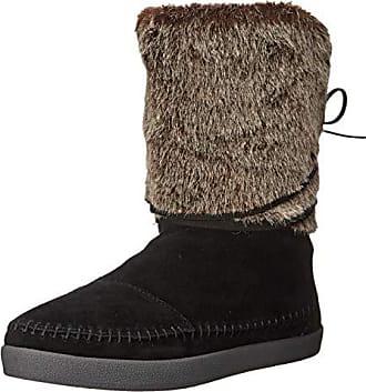 e14e97f6f Toms Womens Nepal Snow Boot, Black Suede Faux Hair, 9.5 Medium US