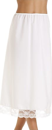 Camille Womens Ladies White 32 Half Length Lace Trim Under Skirt Slip 14/16