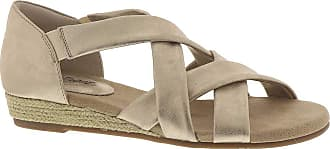 Easy Street womens Zora Espadrille Wedge Sandal Gold 7.5 wide US