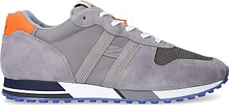Hogan Low-Top Sneakers RETRO RUNNING suede textile Logo grey orange