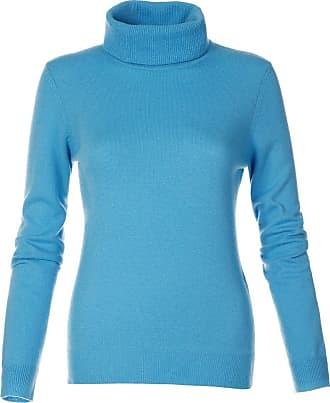 Madeleine Kaschmirpullover in blau MADELEINE Gr 36/38, türkisblau für Damen. Waschbar